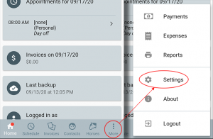How to open settings