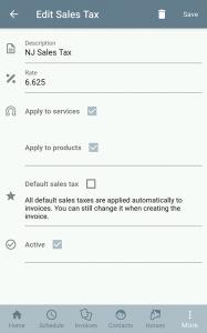 Sales tax editing